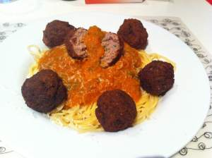 albondigas con espaguetis
