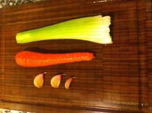 apio zanahoria ajo