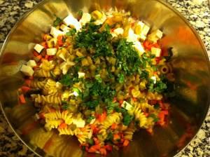 ensalada de pasta vegetariana
