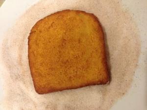 torrija con azucar
