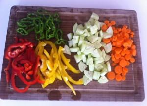 hortalizas cortadas