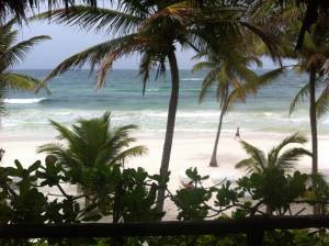 vistas desde el hotel the beach tulum