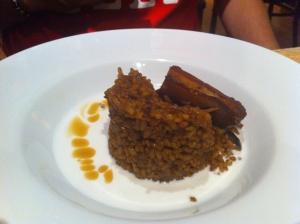 arroz de ceps y foie