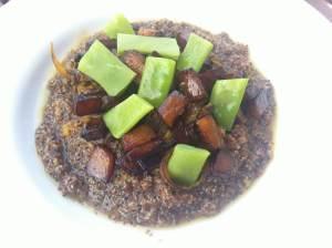 canihua con tacos de calabaza
