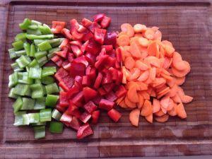 pimientos zanahoria