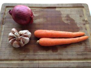zanahoria ajo cebolla