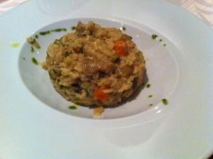 arroz meloso con setas