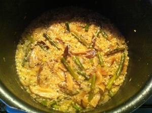 risotto en proceso