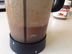 smoothie platano nutella