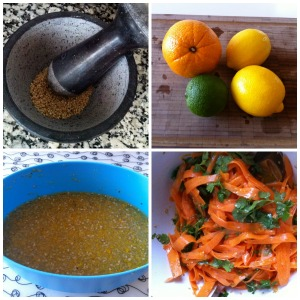 zanahoria y citricos