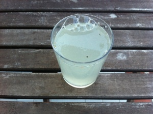 zumo de limón y agua