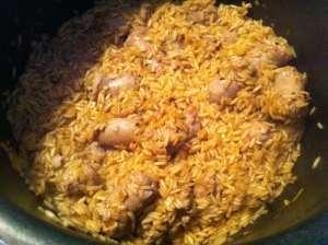 arroz con butifarra