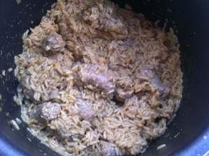 arroz cremoso con butifarra