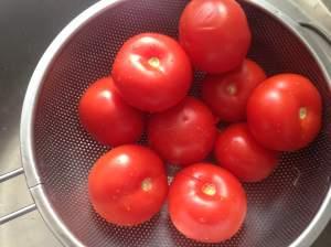 tomates escaldados
