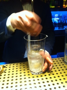 enfriando vaso