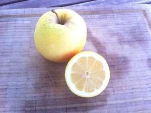 manzana y limon