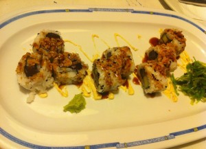 sushi atun pepino queso payoyo