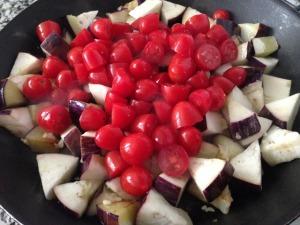 berenjena tomate