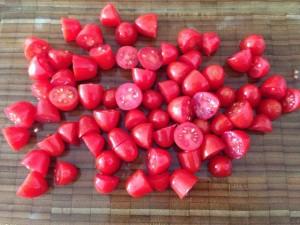 tomate troceado