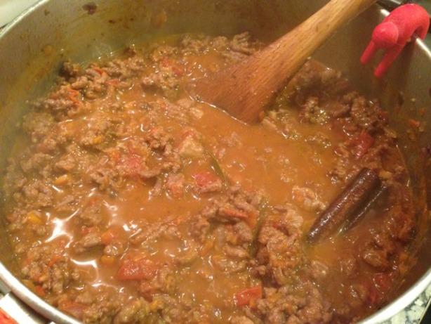 haciendo chile con carne